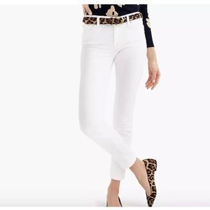 "New J CREW 8"" toothpick jean in white Size 32"